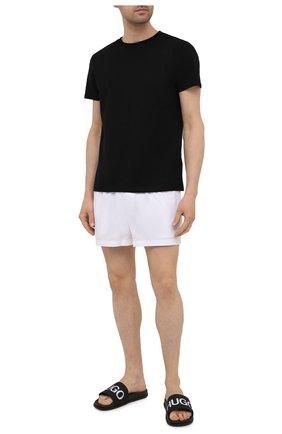 Мужские шлепанцы HUGO черного цвета, арт. 50421188 | Фото 2 (Материал внешний: Резина)