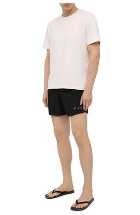 Мужские шлепанцы BOSS черного цвета, арт. 50452019 | Фото 2