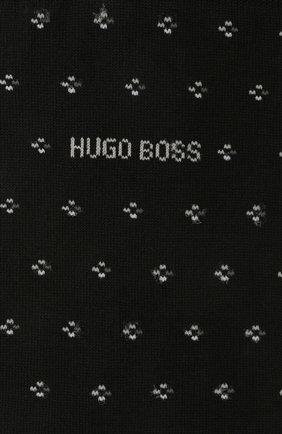 Мужские комплект из двух пар носков BOSS черного цвета, арт. 50449393 | Фото 2 (Материал внешний: Хлопок; Кросс-КТ: бельё)