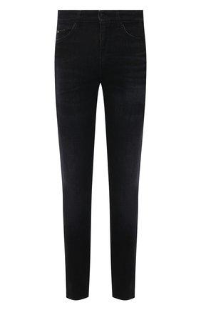 Мужские джинсы BOSS черного цвета, арт. 50453110 | Фото 1 (Силуэт М (брюки): Прямые; Материал внешний: Хлопок, Деним; Длина (брюки, джинсы): Стандартные; Стили: Кэжуэл)