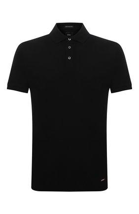 Мужское хлопковое поло BOSS черного цвета, арт. 50398204 | Фото 1
