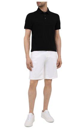 Мужское хлопковое поло BOSS черного цвета, арт. 50398204 | Фото 2