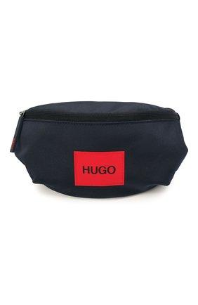 Мужская текстильная поясная сумка HUGO темно-синего цвета, арт. 50455547 | Фото 1