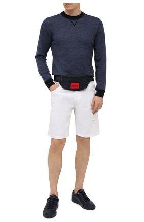 Мужская текстильная поясная сумка HUGO темно-синего цвета, арт. 50455547 | Фото 2