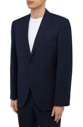Мужской шерстяной костюм BOSS синего цвета, арт. 50453689 | Фото 2