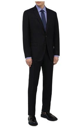 Мужской шерстяной костюм BOSS темно-синего цвета, арт. 50453650 | Фото 1