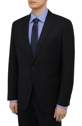 Мужской шерстяной костюм BOSS темно-синего цвета, арт. 50453650 | Фото 2