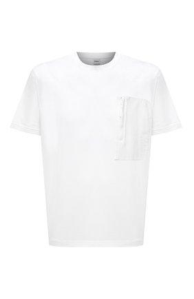 Мужская хлопковая футболка ASPESI белого цвета, арт. S1 A AY43 G454 | Фото 1 (Принт: Без принта; Стили: Гранж; Материал внешний: Хлопок; Рукава: Короткие; Длина (для топов): Стандартные)