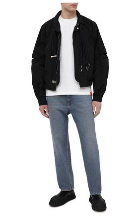 Мужская хлопковая футболка ASPESI белого цвета, арт. S1 A AY43 G454 | Фото 2 (Принт: Без принта; Стили: Гранж; Материал внешний: Хлопок; Рукава: Короткие; Длина (для топов): Стандартные)