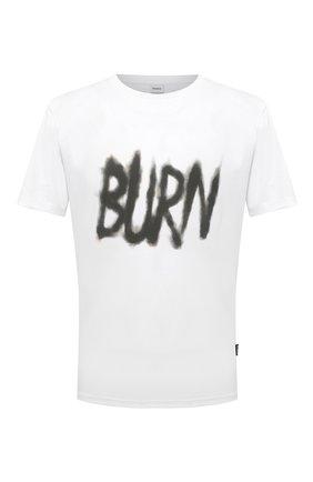Мужская хлопковая футболка ASPESI белого цвета, арт. S1 A AY58 A335 | Фото 1 (Стили: Гранж; Принт: С принтом; Рукава: Короткие; Длина (для топов): Стандартные; Материал внешний: Хлопок)