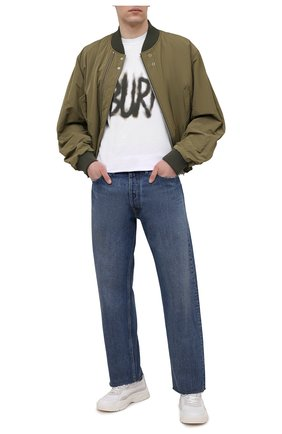 Мужская хлопковая футболка ASPESI белого цвета, арт. S1 A AY58 A335 | Фото 2 (Стили: Гранж; Принт: С принтом; Рукава: Короткие; Длина (для топов): Стандартные; Материал внешний: Хлопок)