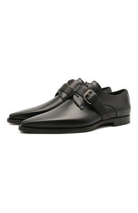 Мужские кожаные дерби DSQUARED2 черного цвета, арт. LUM0067 24900001 | Фото 1 (Стили: Классический; Материал внутренний: Натуральная кожа)