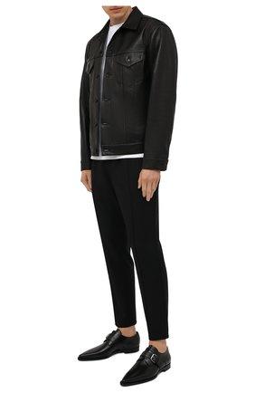 Мужские кожаные дерби DSQUARED2 черного цвета, арт. LUM0067 24900001 | Фото 2 (Стили: Классический; Материал внутренний: Натуральная кожа)