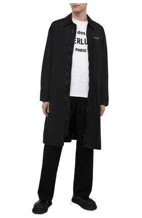 Мужская хлопковая футболка BERLUTI белого цвета, арт. R18JRS50-003   Фото 2 (Длина (для топов): Стандартные; Материал внешний: Хлопок; Стили: Кэжуэл; Рукава: Короткие; Принт: С принтом)