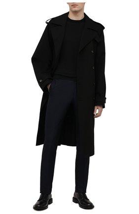 Мужские хлопковые брюки BERLUTI темно-синего цвета, арт. R20TCU57-001   Фото 2