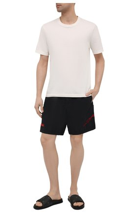 Мужские плавки-шорты STONE ISLAND SHADOW PROJECT черного цвета, арт. 7419B0105   Фото 2