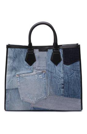 Мужская текстильная сумка-тоут edge DOLCE & GABBANA синего цвета, арт. BM1796/AW347 | Фото 1