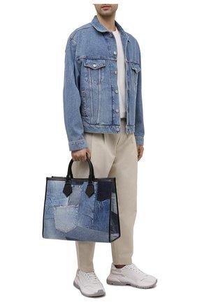Мужская текстильная сумка-тоут edge DOLCE & GABBANA синего цвета, арт. BM1796/AW347 | Фото 2