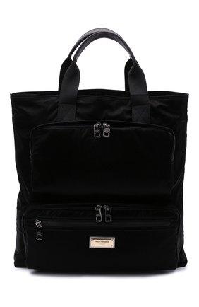 Мужская текстильная сумка-шопер nero sicilia dna DOLCE & GABBANA черного цвета, арт. BM1959/A0243 | Фото 1