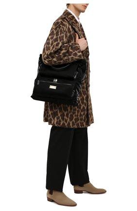 Мужская текстильная сумка-шопер nero sicilia dna DOLCE & GABBANA черного цвета, арт. BM1959/A0243 | Фото 2