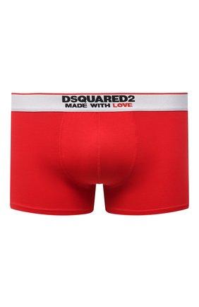 Мужские хлопковые боксеры DSQUARED2 красного цвета, арт. D9LC63530   Фото 1