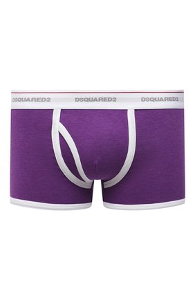Мужские хлопковые боксеры DSQUARED2 фиолетового цвета, арт. D9LD93560   Фото 1 (Кросс-КТ: бельё; Мужское Кросс-КТ: Трусы; Материал внешний: Хлопок)