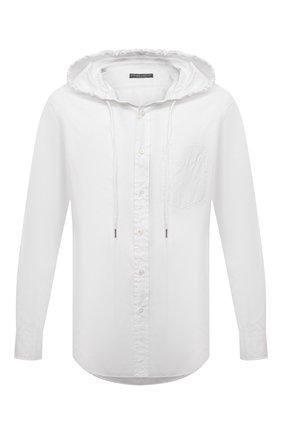 Мужская хлопковая рубашка RALPH LAUREN белого цвета, арт. 790780927 | Фото 1
