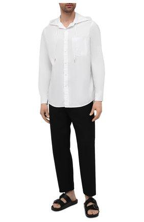 Мужская хлопковая рубашка RALPH LAUREN белого цвета, арт. 790780927 | Фото 2