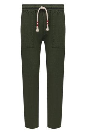 Мужские льняные брюки MC2 SAINT BARTH хаки цвета, арт. STBM CALAIS/CAA0001 | Фото 1