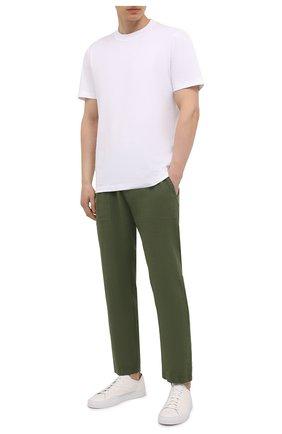 Мужские льняные брюки MC2 SAINT BARTH хаки цвета, арт. STBM CALAIS/CAA0001 | Фото 2