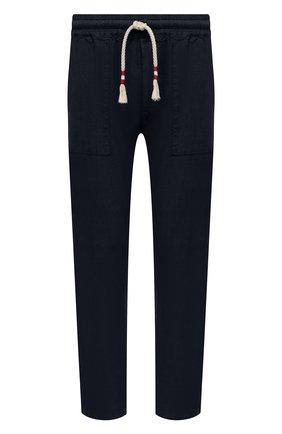 Мужские льняные брюки MC2 SAINT BARTH темно-синего цвета, арт. STBM CALAIS/CAA0001   Фото 1