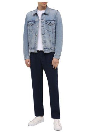 Мужские льняные брюки MC2 SAINT BARTH темно-синего цвета, арт. STBM CALAIS/CAA0001   Фото 2