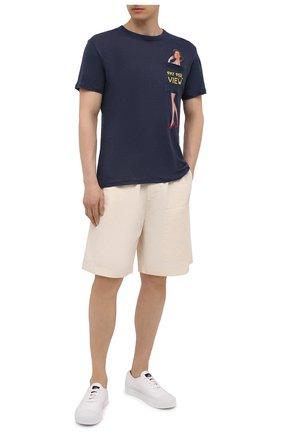 Мужская льняная футболка MC2 SAINT BARTH темно-синего цвета, арт. STBM ECSTASEA/ECS0001 | Фото 2