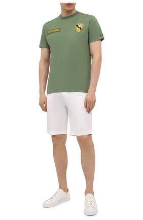 Мужская хлопковая футболка MC2 SAINT BARTH хаки цвета, арт. STBM JACK/JACK001 | Фото 2 (Материал внешний: Хлопок; Длина (для топов): Стандартные; Рукава: Короткие; Стили: Гранж; Принт: С принтом)