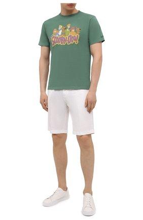 Мужская хлопковая футболка MC2 SAINT BARTH зеленого цвета, арт. STBM JACK/JACK001 | Фото 2