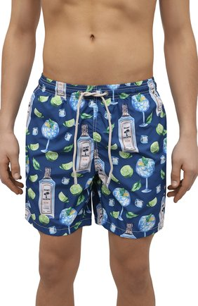 Мужские плавки-шорты MC2 SAINT BARTH темно-синего цвета, арт. STBM LIGHTING/LIG0001 | Фото 2