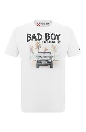 Мужская хлопковая футболка MC2 SAINT BARTH белого цвета, арт. STBM TSHIRT MAN/TSHM001 | Фото 1