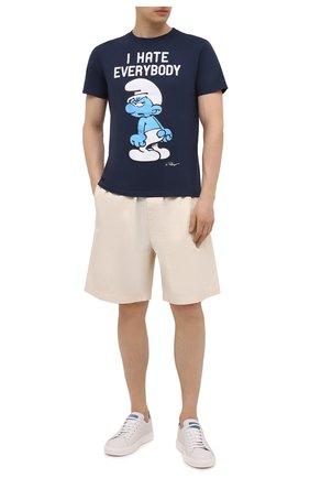 Мужская хлопковая футболка MC2 SAINT BARTH темно-синего цвета, арт. STBM TSHIRT MAN/TSHM001 | Фото 2