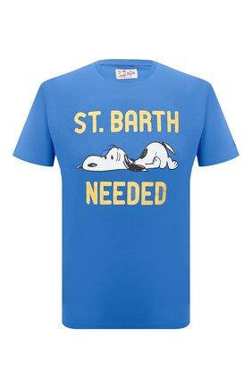Мужская хлопковая футболка MC2 SAINT BARTH синего цвета, арт. STBM TSHIRT MAN/TSHM001 | Фото 1