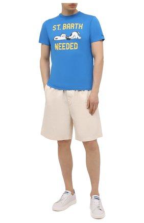 Мужская хлопковая футболка MC2 SAINT BARTH синего цвета, арт. STBM TSHIRT MAN/TSHM001 | Фото 2