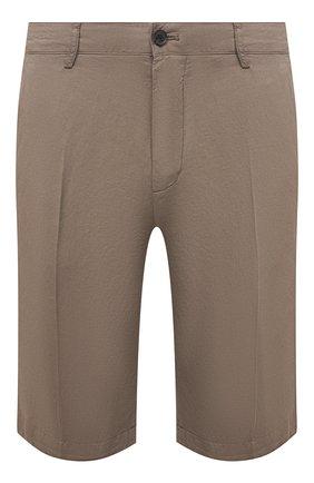 Мужские шорты из хлопка и льна PAUL&SHARK бежевого цвета, арт. 21414041/FJD | Фото 1