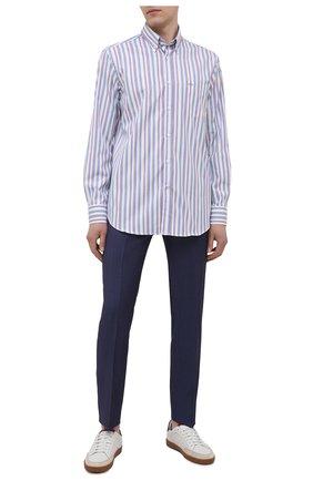Мужская хлопковая рубашка PAUL&SHARK разноцветного цвета, арт. 21413040/C00 | Фото 2