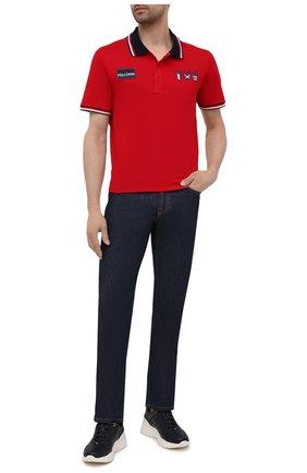 Мужское хлопковое поло PAUL&SHARK красного цвета, арт. 21411303/C00 | Фото 2