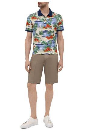 Мужское хлопковое поло PAUL&SHARK разноцветного цвета, арт. 21411292/C00 | Фото 2