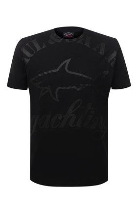 Мужская хлопковая футболка PAUL&SHARK черного цвета, арт. 21411069/C00 | Фото 1
