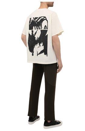Мужская хлопковая футболка RHUDE кремвого цвета, арт. RHPS21TT00000017 | Фото 2