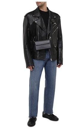 Мужская кожаная сумка BURBERRY черного цвета, арт. 8039014 | Фото 2