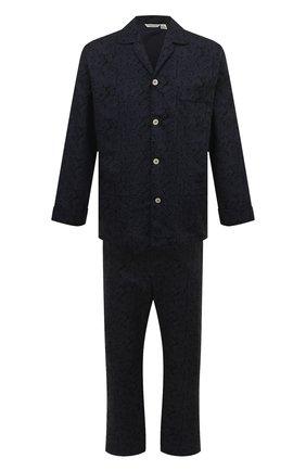 Мужская хлопковая пижама ROBERTO RICETTI темно-синего цвета, арт. PIGIAMA VENEZIA LUNG0/C2611 | Фото 1