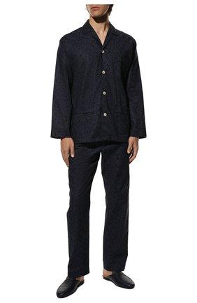 Мужская хлопковая пижама ROBERTO RICETTI темно-синего цвета, арт. PIGIAMA VENEZIA LUNG0/C2611 | Фото 2