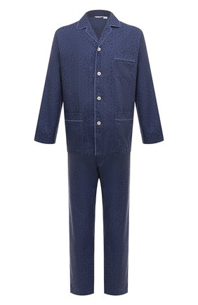 Мужская хлопковая пижама ROBERTO RICETTI синего цвета, арт. PIGIAMA VENEZIA LUNG0/B2602 | Фото 1